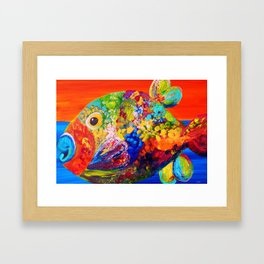 Deviously Dappled Framed Art Print