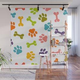 dog paw pattern Wall Mural