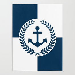 Nautical themed design 2 Poster