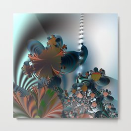 Follow me! -- Creatures in a fractal landscape Metal Print