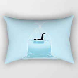 Loch Ness Golden Fish Rectangular Pillow