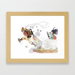 Le premier essai / The first try Framed Art Print