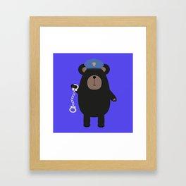 Police Black Bear and Framed Art Print
