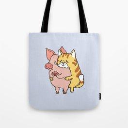 Friend Not Food Cat Tote Bag