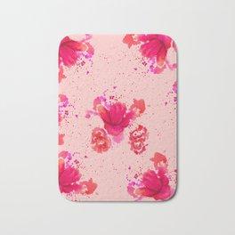 Purple Watercolor Flower Bath Mat