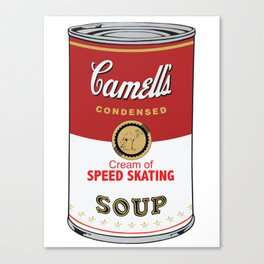 Camell's Soup CREAM OF SPEED SKATING Pop Art Canvas Print