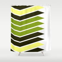 bender Shower Curtains featuring Pattern Bender Stripes Print by Bee :)