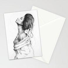 Pretty Lady Illustration Woman Portrait Beauty Stationery Cards