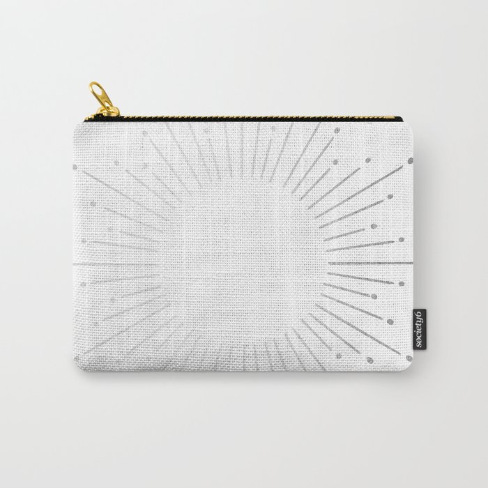 Sunburst Moonlight Silver on White Carry-All Pouch