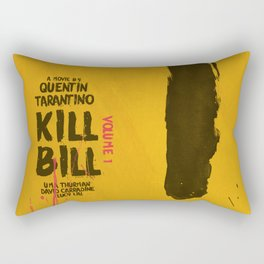 Kill Bill, Quentin Tarantino Movie Poster, Alternative film playbill Art, Uma Thurman, Lucy Liu Rectangular Pillow