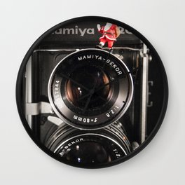 Twin Lens Xmas Wall Clock