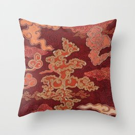 Crimson Clouds Throw Pillow