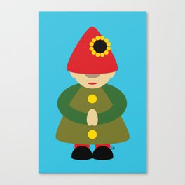 Gnome on Blue Canvas Print