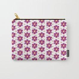Rosa Blumen mit Schmetterlingen Blumenwiese Carry-All Pouch