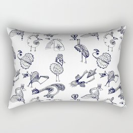 Sketch art with fairy birds and animals Rectangular Pillow