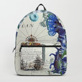 Blue Seahorse Sea Backpack