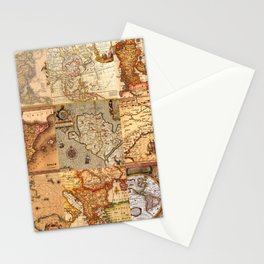 Old maps Stationery Cards