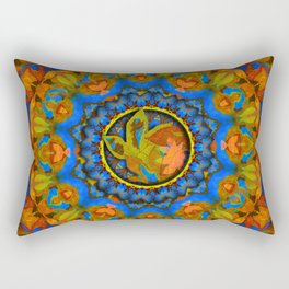 Autumn on Blue Rectangular Pillow