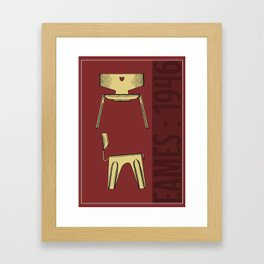 Classic Eames Chair poster / Print Framed Art Print