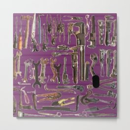 Purple Tools Metal Print