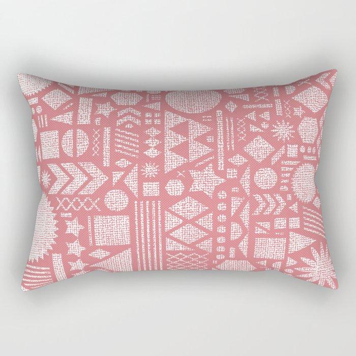 Modern Elements with Bubble Gum. Rectangular Pillow