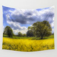 monet Wall Tapestries featuring The Monet Farm by David Pyatt