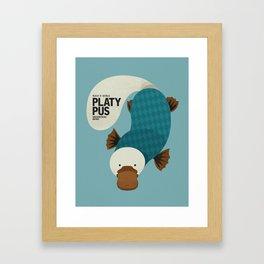 Hello Platypus Framed Art Print