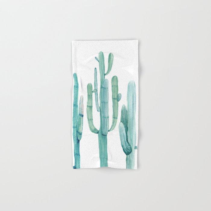 Cacti Fam Turquoise Hand & Bath Towel