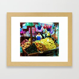 Mexican Market Framed Art Print