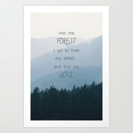 Forest and Soul Art Print