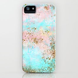 Pink and Gold Mermaid Sea Foam Glitter iPhone Case