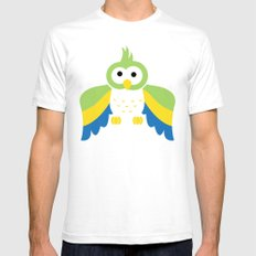 Minimal Parrot SMALL White Mens Fitted Tee