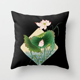 lotursflowers B : Minhwa-Korean traditional/folk art Throw Pillow
