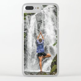 Tree Pose Twin Falls Valencia, Philippines Clear iPhone Case