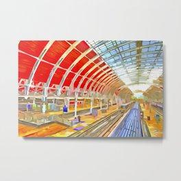 Paddington Railway Station Pop Art Metal Print