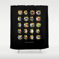 league Shower Curtains featuring Premier League 2015/16 by design.declanhackett