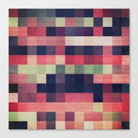 quilt Canvas Prints featuring quilt n2 by spinL