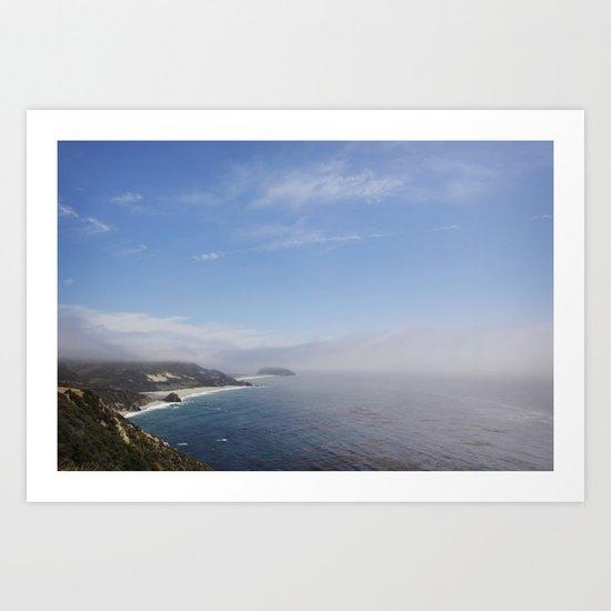 cali coast Art Print