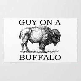 Guy on a Buffalo Rug