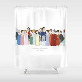 Cast of Jane Austen's Pride and Prejudice Shower Curtain