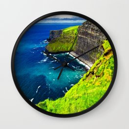 Cliffs of Moher Vivid Wall Clock