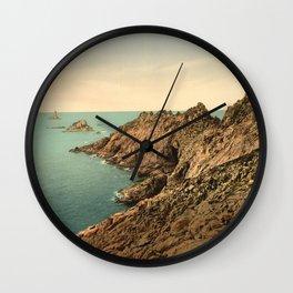 """Pointe du Raz Douarnenez France"" Wall Clock"
