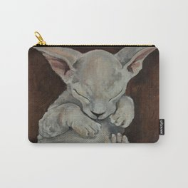 Oilpainting animal kitten sphinx Carry-All Pouch