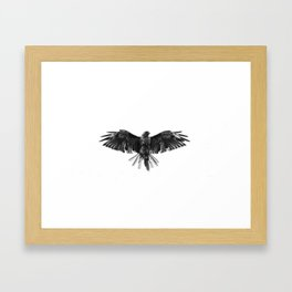Black Bird White Sky Framed Art Print