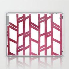 Maroon skyscraper pattern Laptop & iPad Skin
