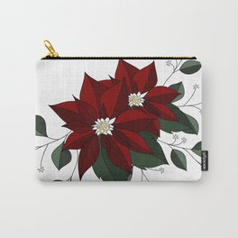 Nochebuena Poinsettia Carry-All Pouch