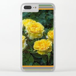 BLOOMING YELLOW SUMMER ROSE GARDEN Clear iPhone Case