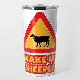 WAKE UP SHEEPLE Travel Mug