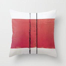 White Red White Throw Pillow