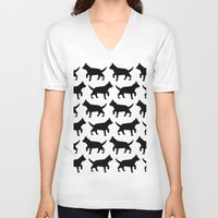 dogs V-neck T-shirts featuring Dogs  by Rose Richey